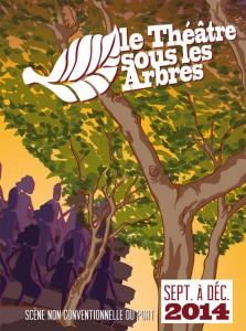 Couverture du programme du théâtre sous les arbres de sept à déc 2014